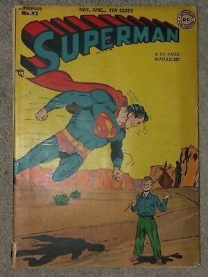 """Superman #52 Golden Age. May/June 1948  """"Preview of Plunder"""""""