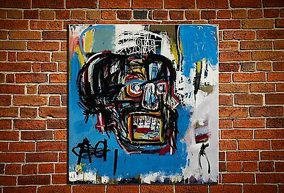 """Jean-Michel Basquiat """"Untitled,1982"""" oil painting on canvas huge wall 24x24"""