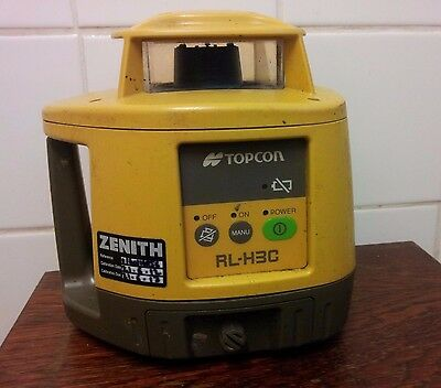 TOPCON RL-H3C and LS 6 Laser Detector.  Self-levelling rotation laser.