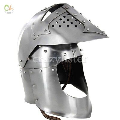 SCA combat winged Gothic pauldrons Medieval Helmet Gift