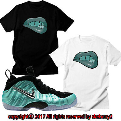 980fcb3505006 New Nike Air Foamposite Pro Island Green Matching Custom T Shirt Foam 1-1-