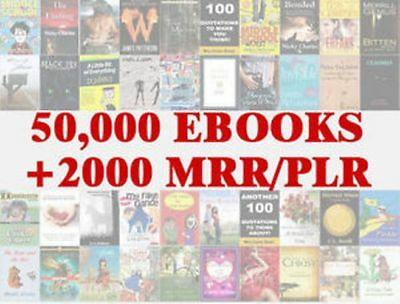 50,000 eBooks Zip file Pdf + word Format With 2000 Master Resell Rights/PLR