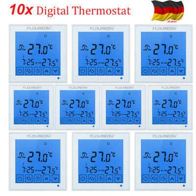 10xdigital lcd thermostat raumthermostat fu bodenheizung. Black Bedroom Furniture Sets. Home Design Ideas