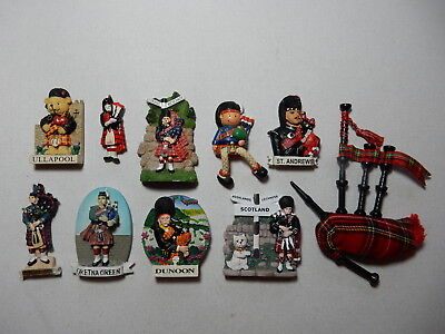 One Selected 3D Souvenir Fridge Magnet from Scotland Scottish Piper or Bagpipes