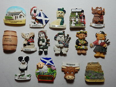 One Selected 3D Souvenir Fridge Magnet from Scotland