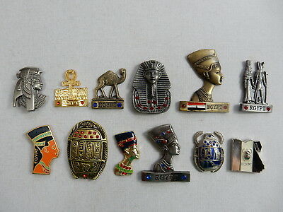 One Selected Metal Souvenir Fridge Magnet from Egypt