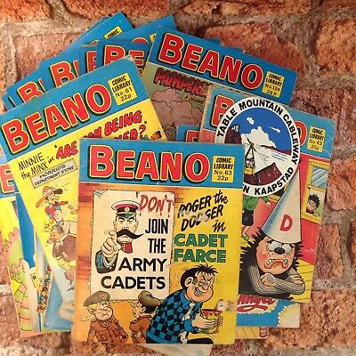 25 Vintage Beano Comics, no49,59 and others