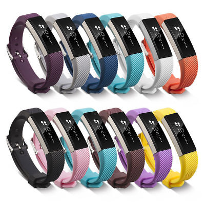 Silicone Replacement Wristband Metal Buckle Watch Band Strap For Fitbit Alta HR
