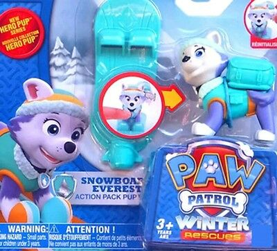 Paw Patrol Figure Toy Everest Ski Snowboard Kids Pup Action Pack Gift Winter Hot