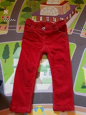 baby girl Next red  Swede Jeans 18-24mnths