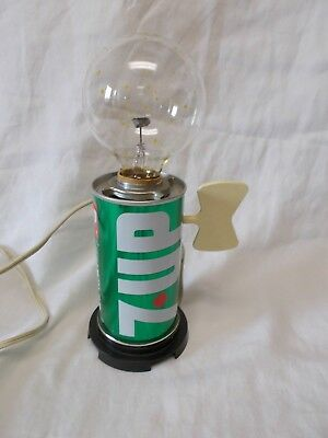 Vintage 7-Up Can Light / Lamp - Electric - Flickering Bulb