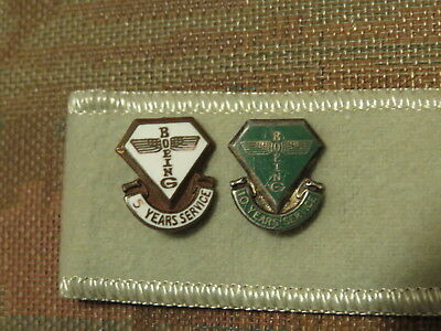 Rare   Boeing aviation service pins 5 and 10 years set of 2