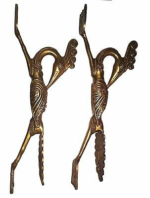A Pair of lovely HandCrafted INDIAN TRIBAL PEACOCK designed BRASS DOOR HANDLES