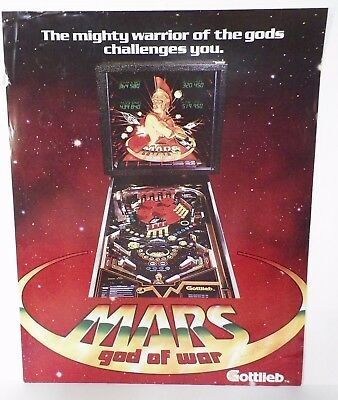 Gottlieb Mars God of War Poster From Python Anghelo Estate/Private Collection.