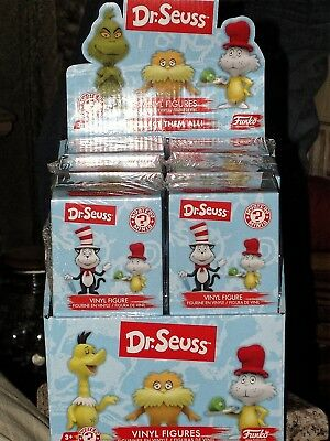 "Funko Dr. Seuss Mystery Minis Series 1 Case of 12 Vinyl Figures 2.5"" Tall SEALED"