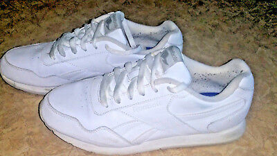 943add615b13b WOMEN S ~REEBOK ROYAL Flag All White Athletic Shoes~ Size 8.5 ...