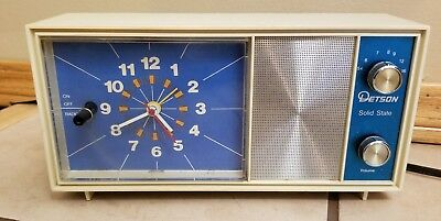Vintage Detson Electric Alarm Clock Radio RARE