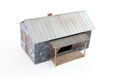 O scale model train foundry building with interior and weathering