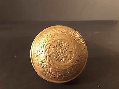 Antique Victorian Eastlake Brass Door Knob