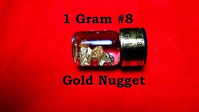 (W-E) Gold Nuggets out of the American River # 8 Mesh 1 Gram