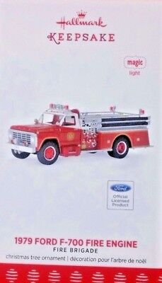 2017 Hallmark Ornament 1979 Ford F- 700 Fire Truck  Free Shipping !!