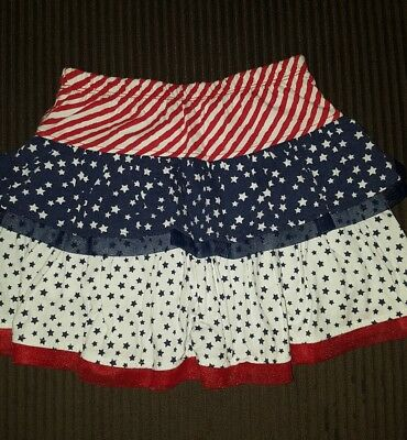 White, Blue, And Red American Flag Skirt Girls 5T