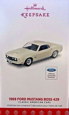 2017 Hallmark Ornament 1969 Ford Mustang Boss 429  Free Shipping !!