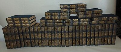 ANTIQUE Books C1893 WAVERLY NOVELS Blue STUNNING SPINES! 46 Vols! GOLD THISTLES