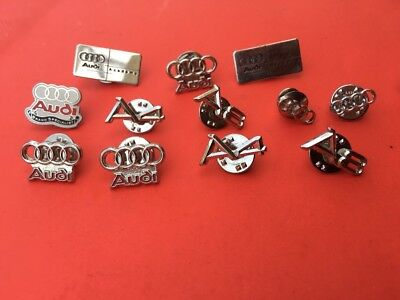 AUDI logo pins - 12 automobile pinback - car badge - tie tack - pins L@@K L@@K!!