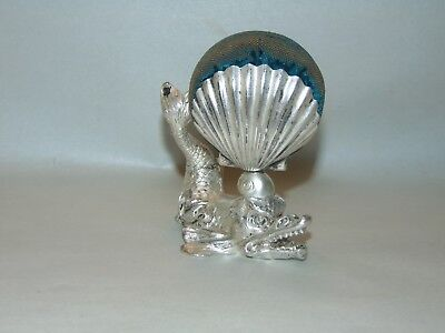 ANTIQUE VICTORIAN FIGURAL Pin Cushion SEA MONSTER Tufts FISH