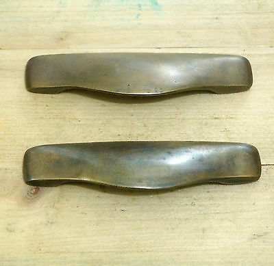 "4.84"" 2 pcs Vintage Retro BIN PULL Solid Brass Cabinet Drawer Handle Knob Pulls"