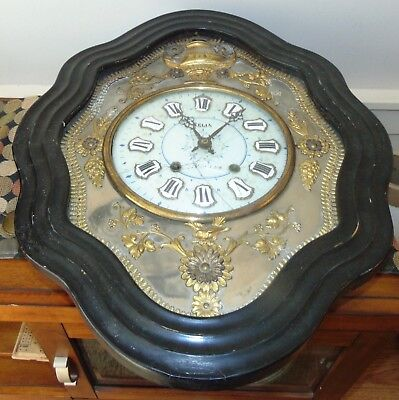 ANTIQUE FRENCH CLOCK For PARTS Or REPAIR