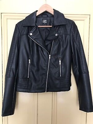 One Way Faux Leather Jacket, Size 10, Good Condition