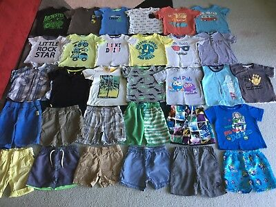 Bulk lot boys sz 2 summer clothes ToyStory Hoot Sprout Patch