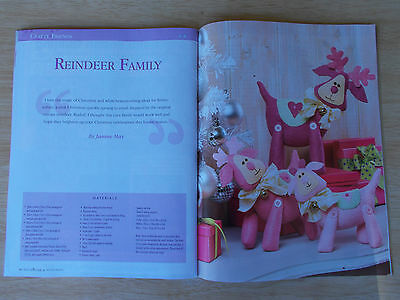 Patchwork & Stitching Vol 15 #11~Xmas~Gingies~Reindeer Family~Cushions~Gift Bags