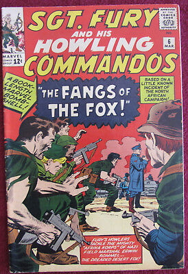 Sgt. Fury And His Howling Commandos 6 Fn Fine 6.0 Silver Age