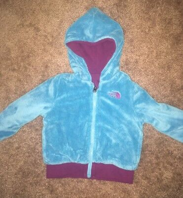 The North Face Reversible Fleece Toddler Blue and Purple sz 2T