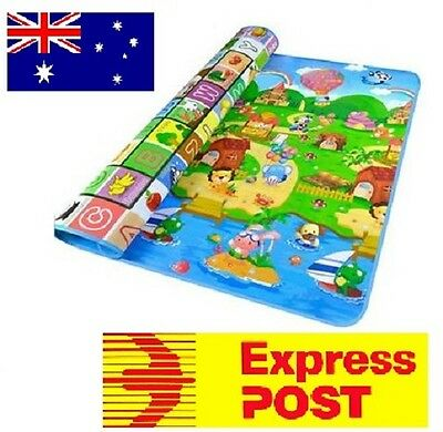 2mx1.8m XXL Baby Kids Floor Play Mat Rug Picnic Cushion Crawling Mat. 8mm thick
