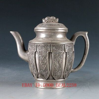 Chinese silver Copper Hand Carved  Teapot ZJ195