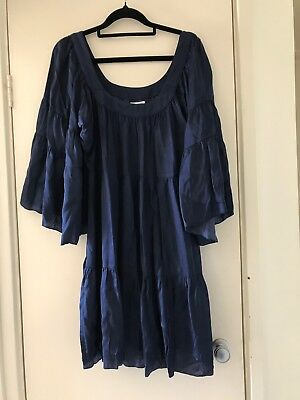 Naudic Blue Dress Sz S (fits up to 14)