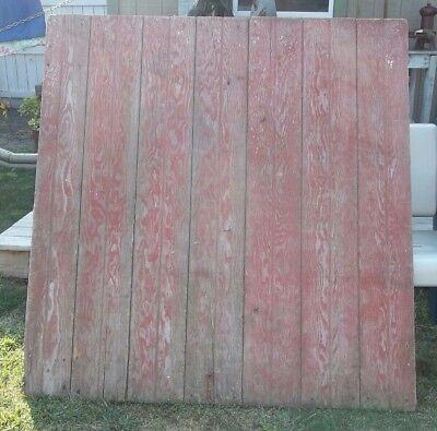 "Farmhouse BARN DOOR 47"" AUTHENTIC Vintage OLD Door RED FARM DOOR Salvaged"