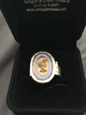 14KT Antique Yellow Gold Authentic Roman Goddess Coin Ring