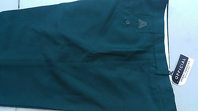 Mens Lawn Bowls Ba Logo Official Brand Trousers, Bottle Green
