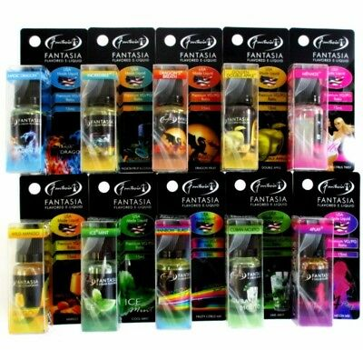 5 E bottles 15ml Fantasia & Hydro Hookah Flavor Liquid vap e Juic of your choice
