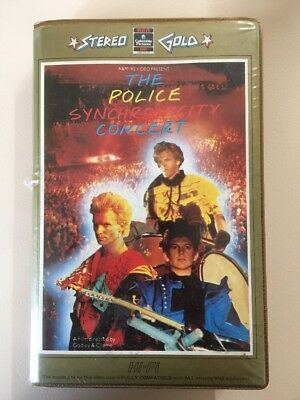 The Police Synchronicity Concert Oz Pal Vhs 1984 Stereo Gold Pre Cert