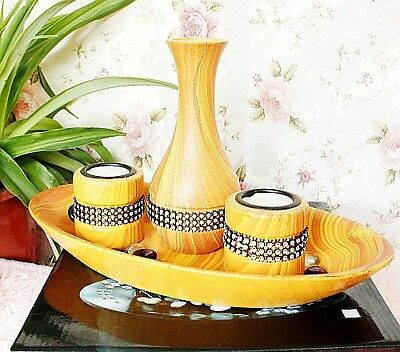 4 sets of Home Furnishing Wooden Ornaments Handmade Candle Flowerpot 1316AB20