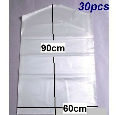 30x Disposable Thin Garment Protection Covers Dry Cleaning Bags 60cmx90cm New