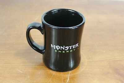"Collectible Rare Monster Energy Drink Black Heavy Duty Coffee Mug 4 3/8"" tall"