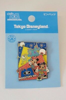 Tokyo Disney Resort Pin Club Monsters Inc Mike & Sulley Mickey & Minnie JAPAN