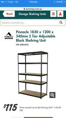 Bunnings Pinacle Garage Storage Shelves